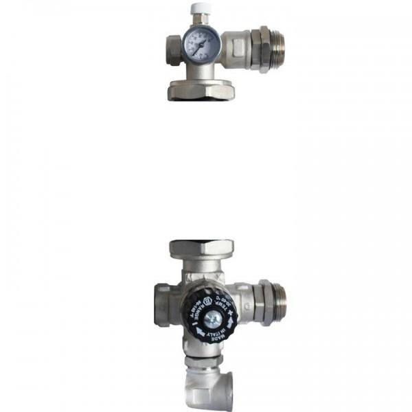 STOUT Насосно-смесительный узел с термостатическим клапаном, без насоса(0120-001000)