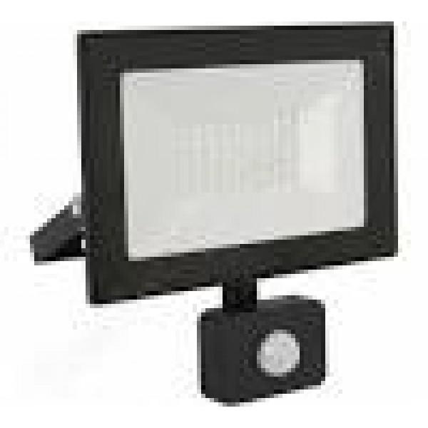 Прожектор Ultraflash LFL-2002S C02 черный LED с датчиком 230В, 6500К 20Вт