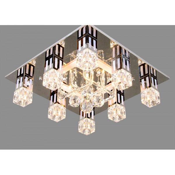 Св-к потолочный бытовой со светодиодиодной подсветкой и пультом 85087/8+4 21 век