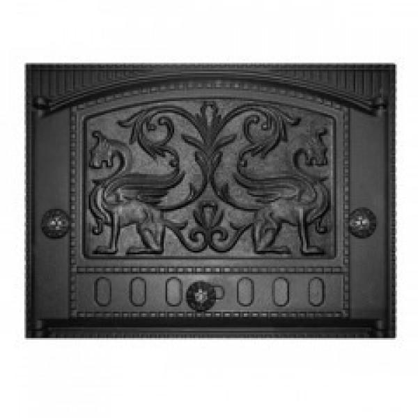 Дверка каминная топочная ДК-2Б `Грифоны` RLK 325 (Рубцовск) 435х320х92 (375х300) (мин 1   1)(п8271)