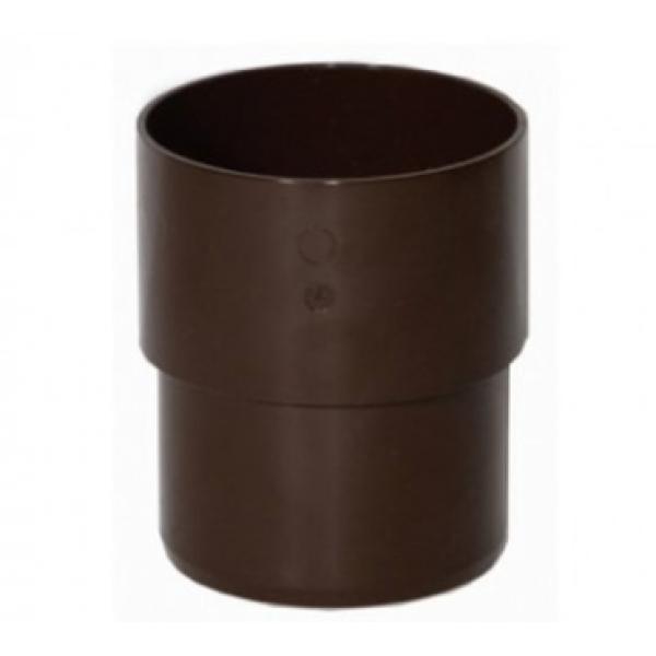 В/сток Муфта трубы ПВХ, коричневый Verat