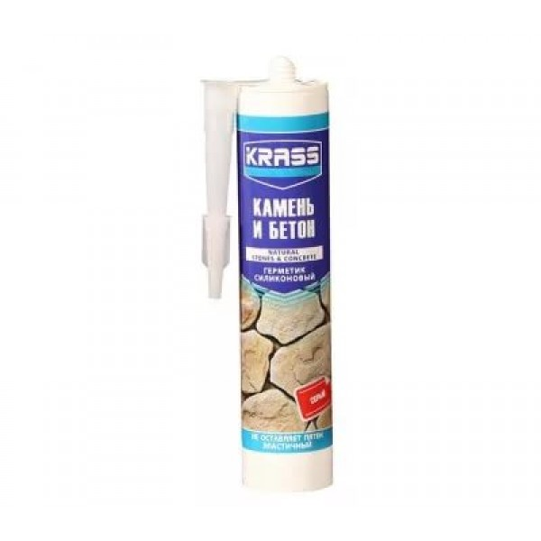 Герметик Krass камень/бетон серый 300мл