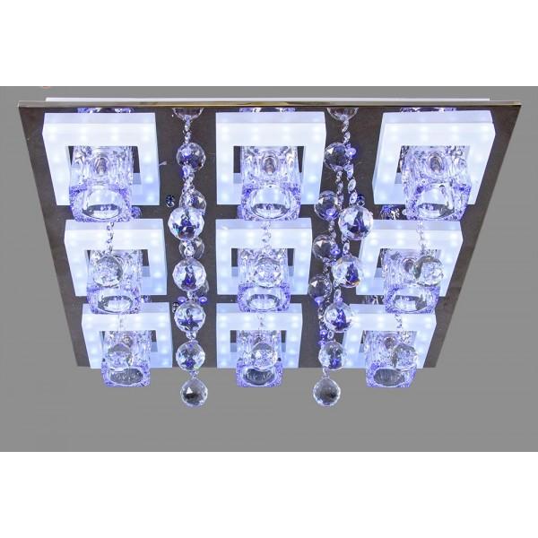 Св-к потолочный бытовой со светодиодиодной подсветкой и пультом 077G/9 21 век