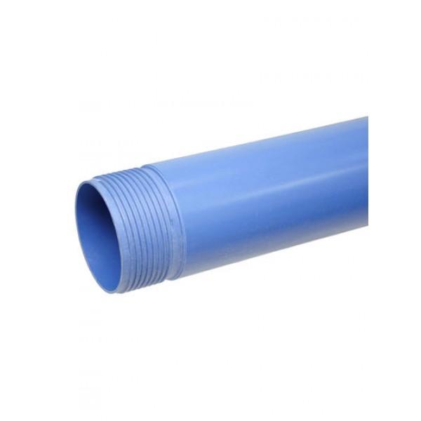 Труба обсадная с резьбой ф125 3м (толщина 5,0мм) НПВХ (34172)