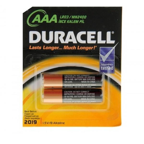 Батарейки Duracell LR3 мизинч. 2шт