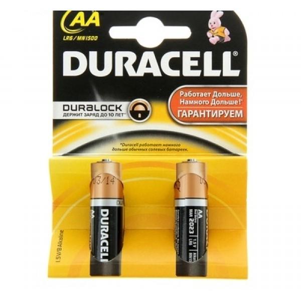 Батарейки Duracell LR6 пальч. 2шт