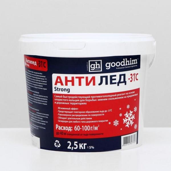 Противогололедный Реагент (сухой) Goodgim, 2,5 кг(5411547)