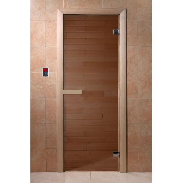 Дверь банная «Бронза матовая», 190х70 см, (4489891)