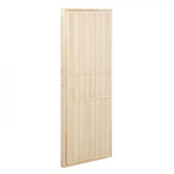 Дверь банная глухая горизонталь «Кирпичики», 190*80 см, липа(2681343)