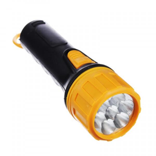 Фонарик, 7 LED, 2ВТ, 2XD, 19СМ, пластик (224-004)