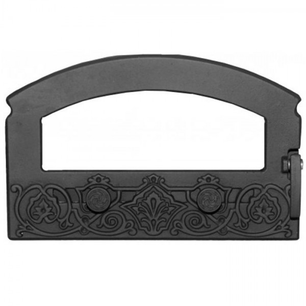 Дверка каминная топочная ДКГ-5С-Э`Зной` (Рубцовск) 470х300х119 (370х200х35) краш, со стеклом, 4 терм
