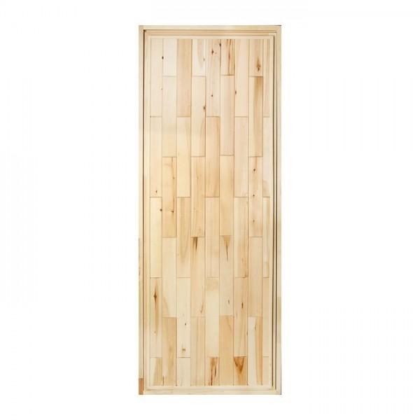 Дверь банная глухая горизонталь «Кирпичики», 170*80 см, липа(2681341)