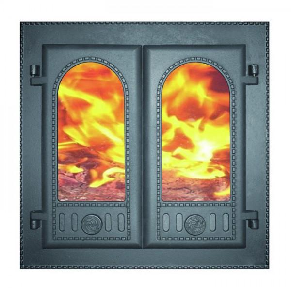"Дверка каминная топочная ДК-6С ""ГОРНИЦА""  500Х500Х102 (410Х410Х45) (30423)"