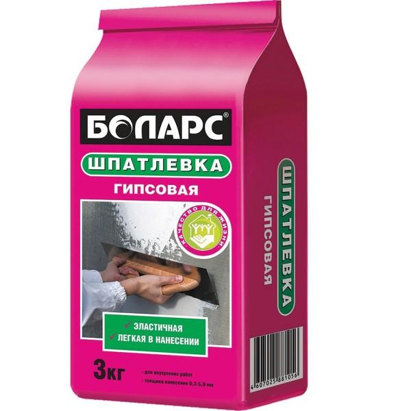 """См Шпаклевка """"Боларс"""" гипсовая 3кг"""