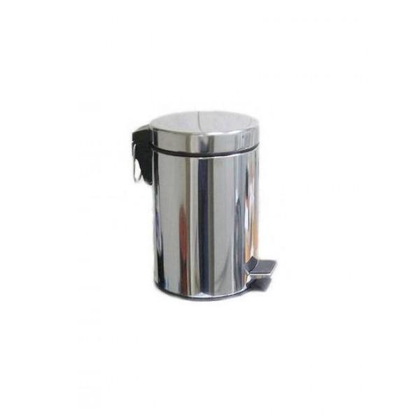 Ведро для мусора хром LUX 3л 701/F (5197)