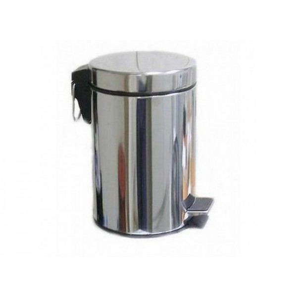 Ведро для мусора хром LUX 5л 702/F (755)