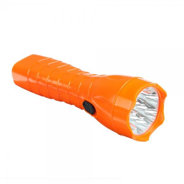 Фонарик, 7 LED, 3ВТ, аккум 450МаЧ, 20СМ, пластик (224-010)