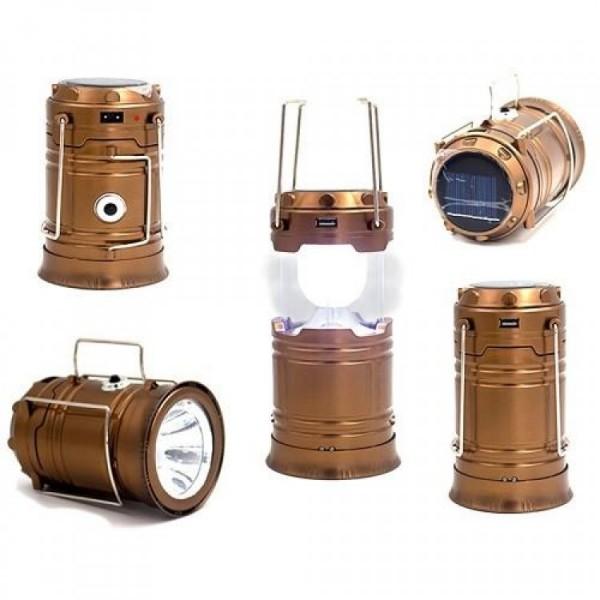 Фонарик-лампа SH-5800T раздвиж. 14-20см.зарядка от солн. бат,эл. сети, USB