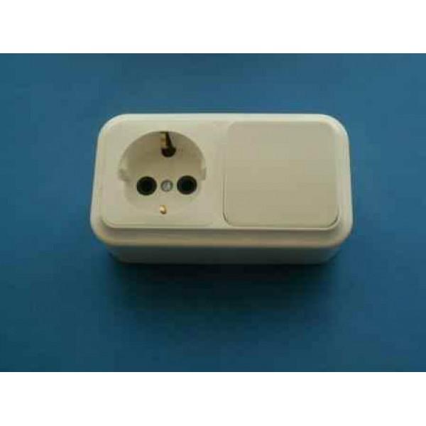 Блок комбинированный (1кл выкл+роз с з/к) (Э2223)