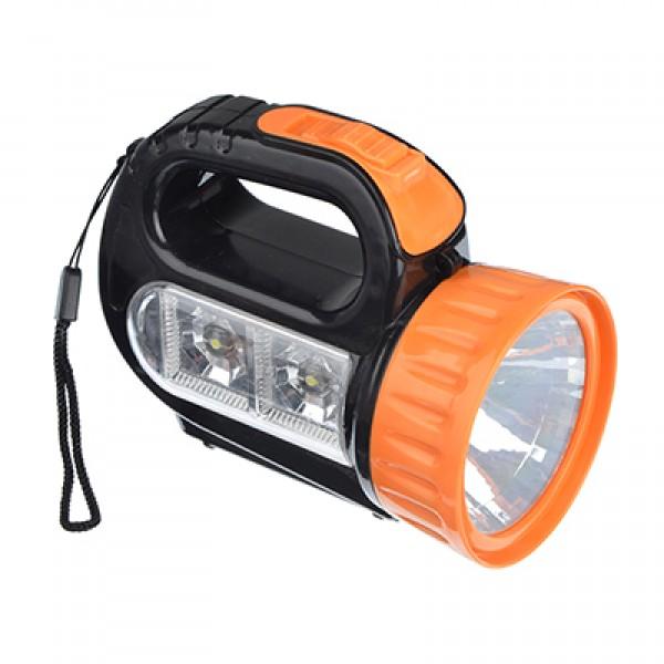 Фонарь 1 LED + 2 LED, 1+2 ВТ, 3хАА, 12х10х5см (223-001)