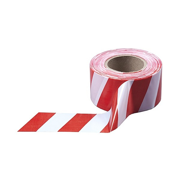 Лента сигнальная красно-белая, 50мм*200м (П7716)