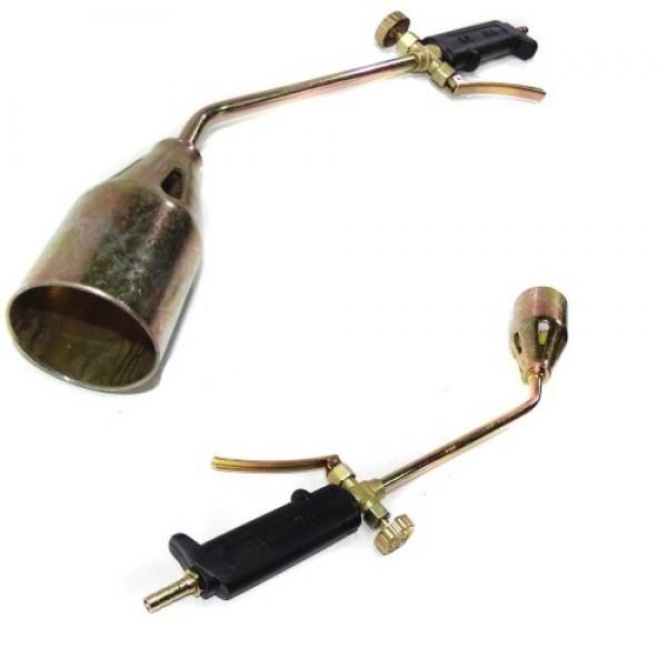 Горелка для кровельных работ, пропановая 45см, с рычажным клапаном (30400)