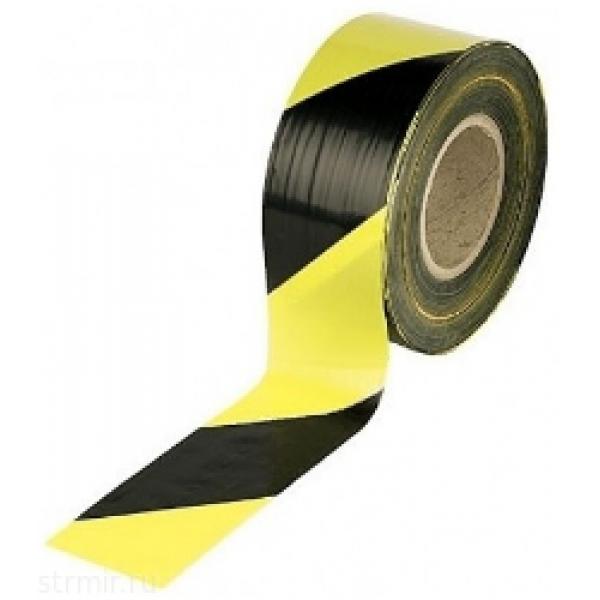 Лента сигнальная желто-черная, 70мм*200м (12242-70-200ар.)