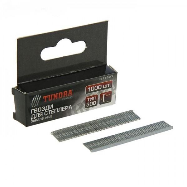 "Гвозди для степлера ""TUNDRA basic"" закалённые, тип 300, (1,25 х 1,05 мм), 12 мм (1000 шт.)(1526584)"