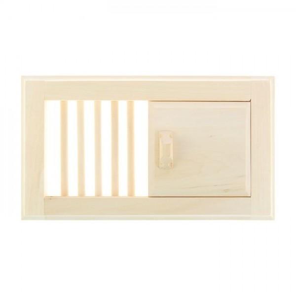 Вентиляционная решетка малая с задвижкой, липа(1311800)