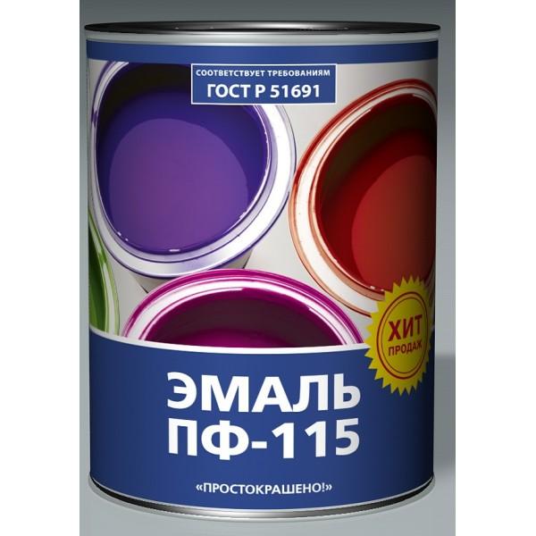 """Эмаль черная 2,7кг """"Простокрашено"""" ПФ-115 (8920)"""